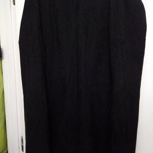 CJ Banks 18w black skirt suede-like soft